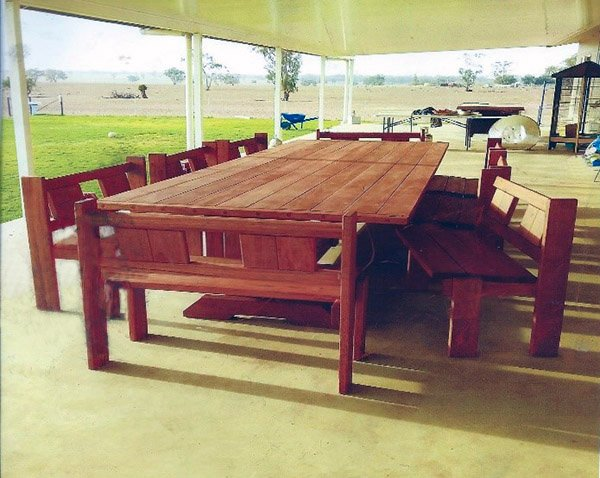 Extra Large 4 Metre 16 Seater Timber Table