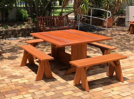 Square Timber Table 5 piece