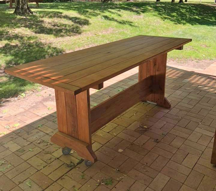 Timber Bar on Casters